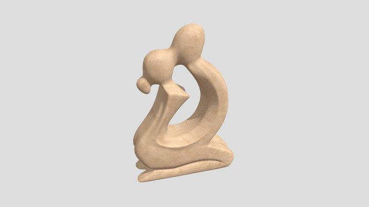 Wooden mini statue 3D Model