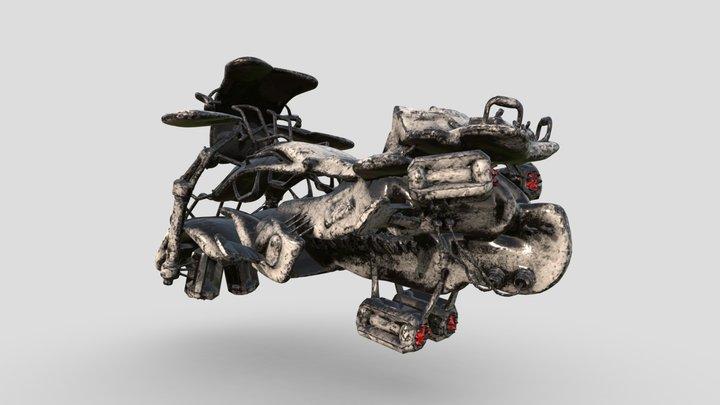 Sci-fi Motorcycle 3D Model