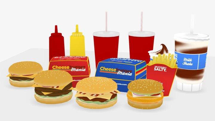 Burgermania 3D Model