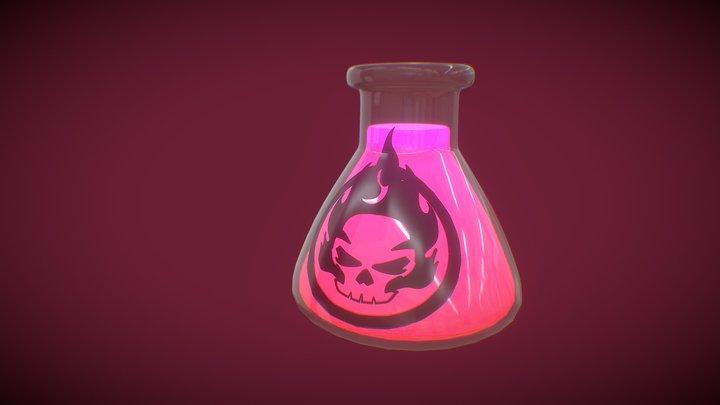 Skull Bottle 3D Model