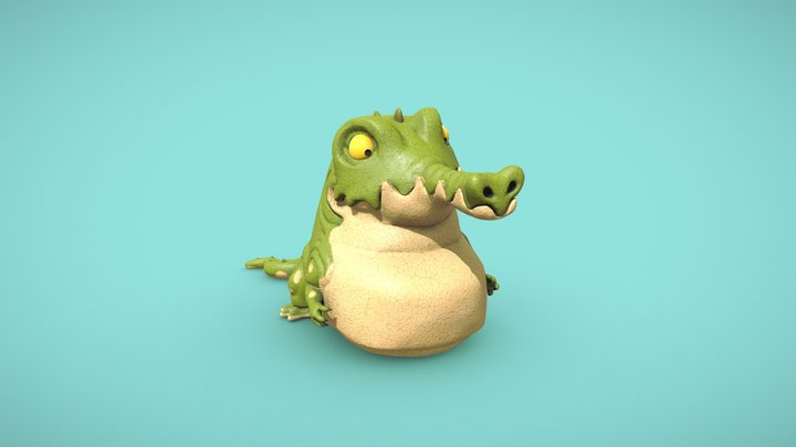 Cartoon crocodile (Croco-Roco) 3D Model