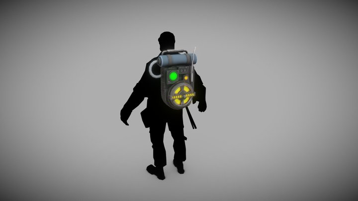 Stylized Proton Pack 3D Model