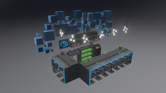 A Bar for Animation 3D Model