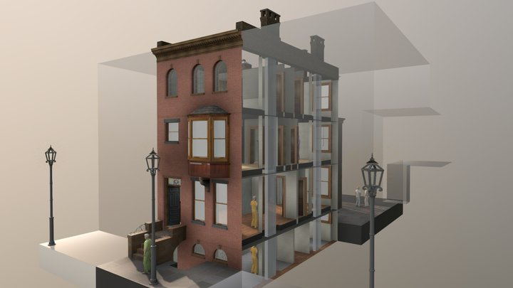A House in Park Slope, Brooklyn 3D Model