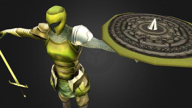 No-name Green Knight for Dungeon Crawler 3D Model