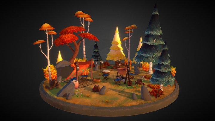Wolf's Forest 3D Model