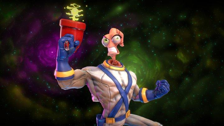 Earthworm Jim | Retrogasm 2018 3D Model