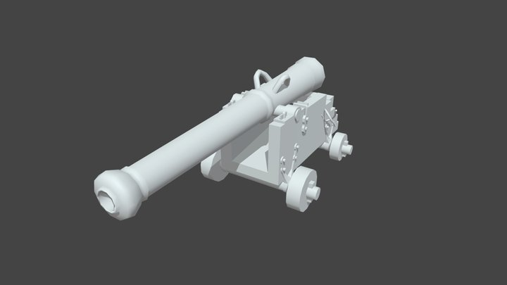 UV Cannon 3D Model