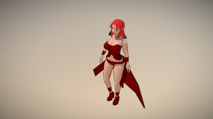 Female BFace style 3D Model