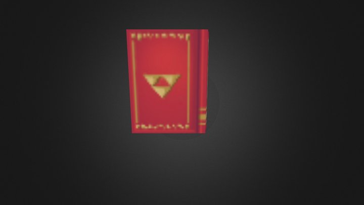 Low Poly Book Test 3D Model
