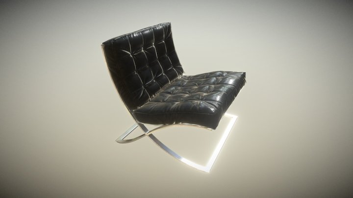 Furniture ArchViz Barcelona Chair 3D Model