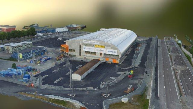 Partille nya arena 3D skannad 3D Model