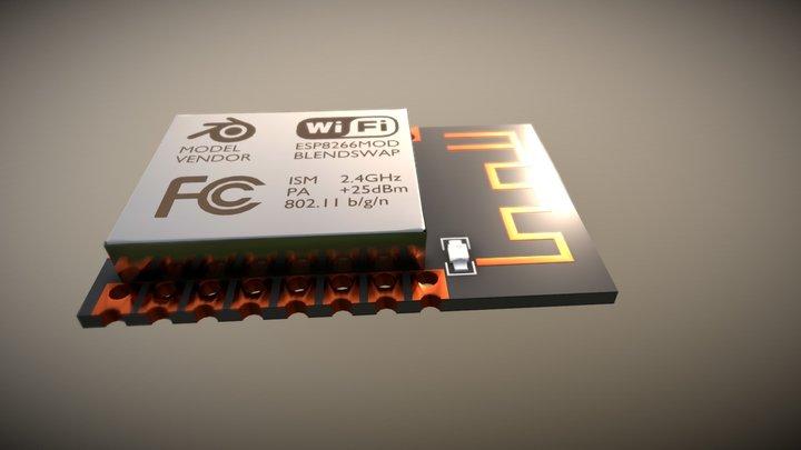 ESP 8266 (MOD) 3D Model