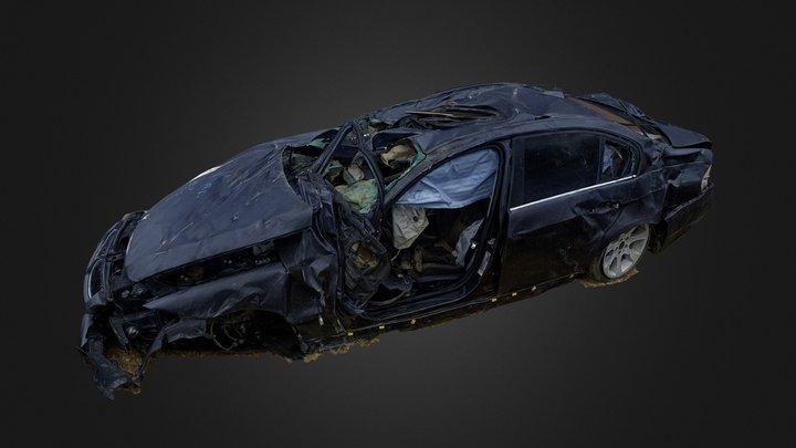 Totaled BMW 335i 3D Model