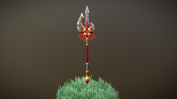 WeaponCraft Assignment - Halberd of the Beast 3D Model