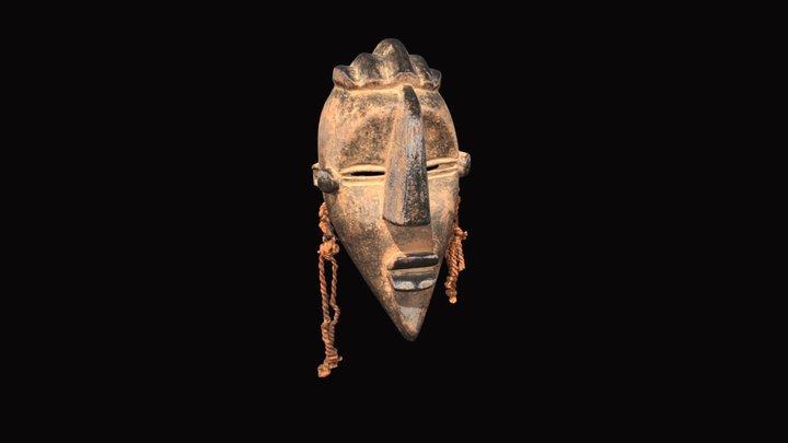 Lwala People Ceremonial Dance Mask 3D Model