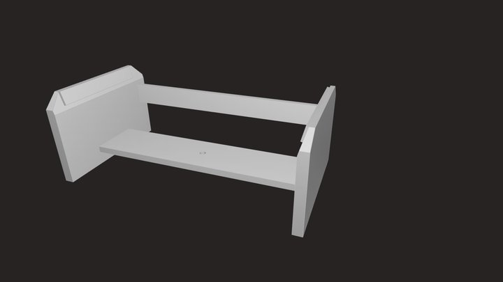 Upright Bass Stand 3D Model