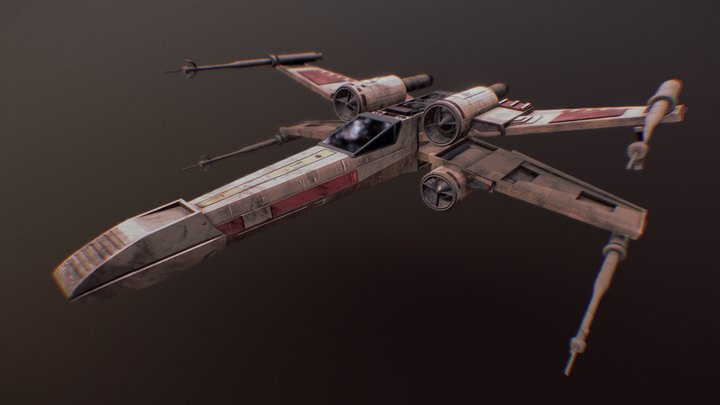 X-wing starfighter   T-65C-A2 3D Model