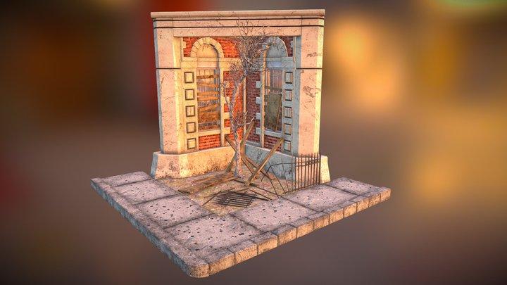 Enviro-Corner Diorama 3D Model