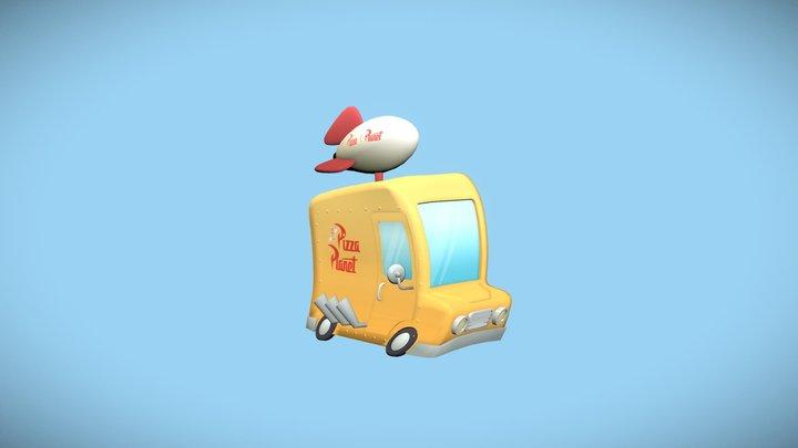 Pizza Planet Truck 3D Model