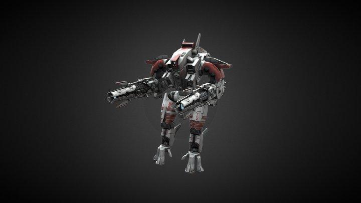 XV107 R'varna Battlesuit 3D Model