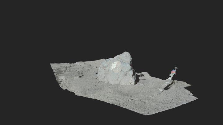 Apollo 17 - Station2 Boulder3 3D Model