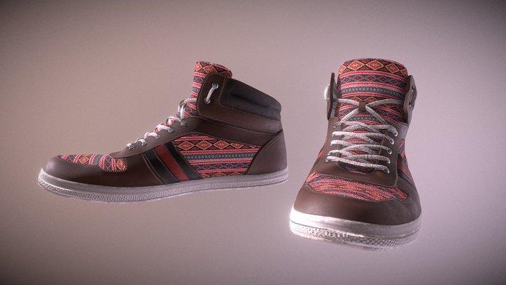 Ethnic Shoes 3D Model