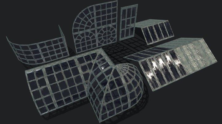 Industrial Set - Steel & Glass 3D Model