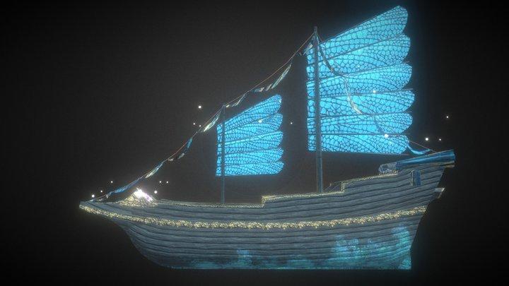 Enchanted Ship 3D Model