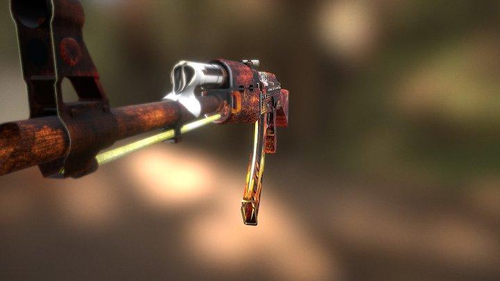 "RG | ""Cannibal"" (Head Hunter Edition) | AK - 47 3D Model"