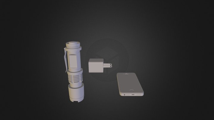 the i5, charger, and torch light the first 3D Model