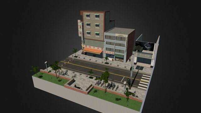 CityScene_Kaohsiung 3D Model