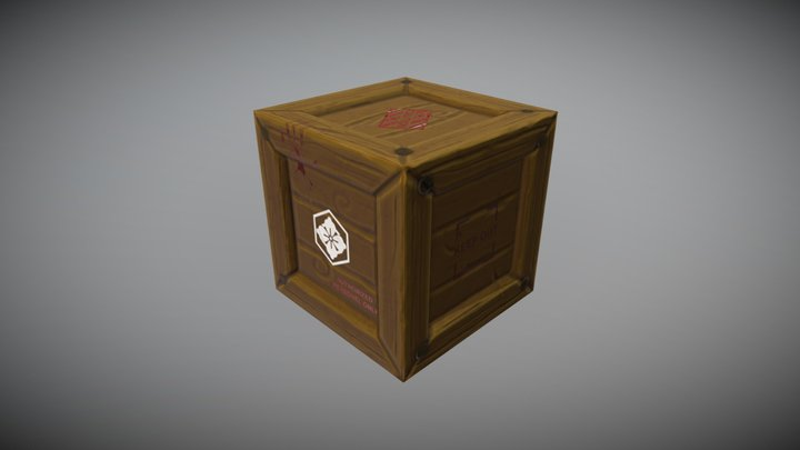 Stylized Crate Hero Prop 3D Model