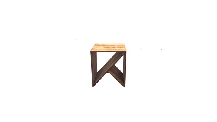Beautiful Angled End Table 3D Model