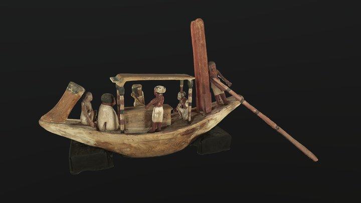 Funerary Boat 3D Model