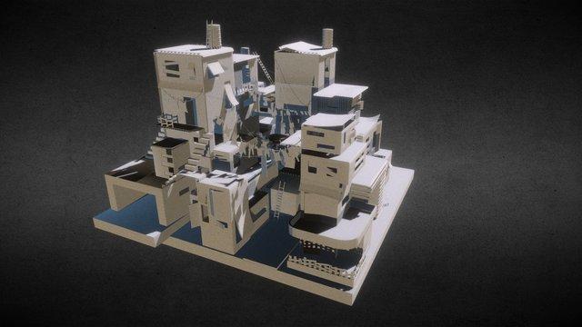 Cardboard Slums-sketchfab TEST2 3D Model