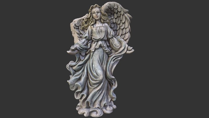 Angel with A Broken Wing 3D Model