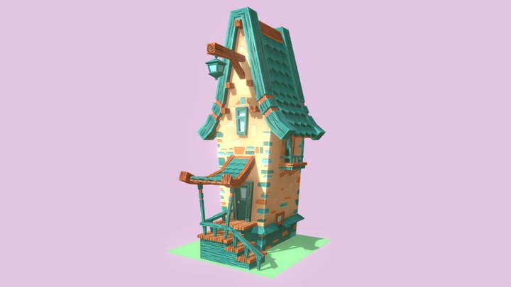 Low Poly Sweet Home 3D Model
