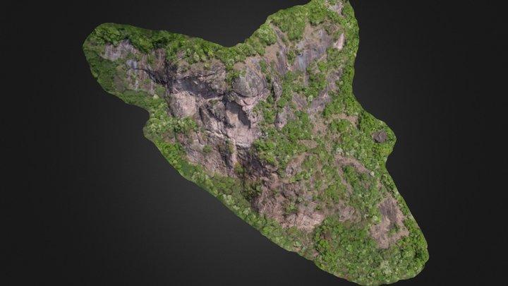 3D-Modell Felswand 3D Model