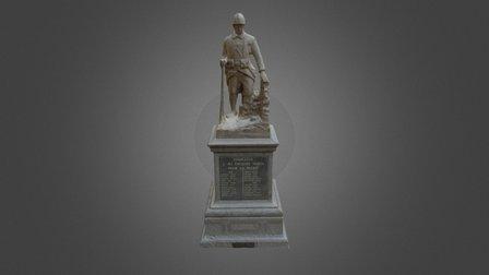 Monument Aux Morts de la ville de Templeuve (59) 3D Model