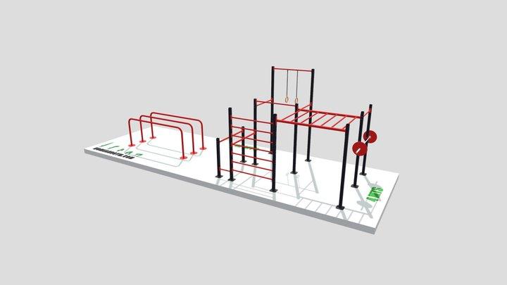 Propuesta A-006 y C-007 (12 x 4 mts) 3D Model