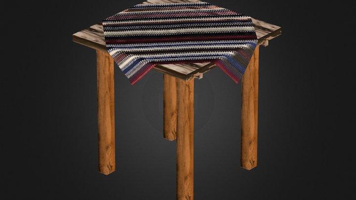 Mesa con mantel 3D Model
