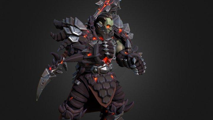 """Deathwing """"Heroes of the Storm"""" Fan Art 3D Model"""