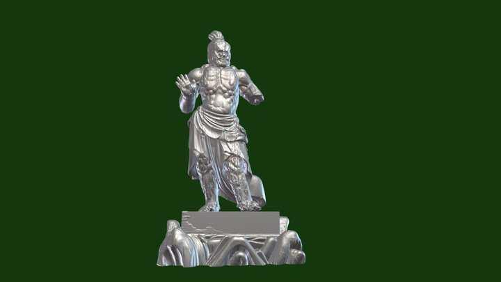 まきでら長谷寺仁王像 吽形 3D Model