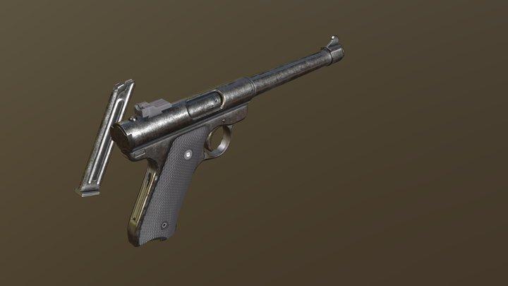 Ruger Mark 1 Pistol 3D Model