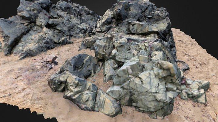 llanddwyn Rock formation 3D Model