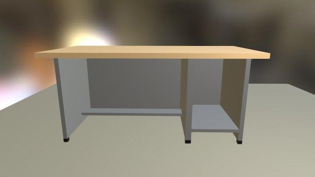 Tugas Meja Komputer 3D Model