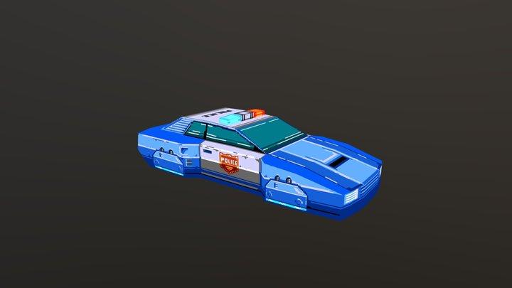 Hover Police Car 3D Model