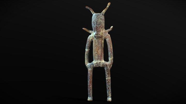 Alien with horns | ceramic sculpture | Mexico 3D Model