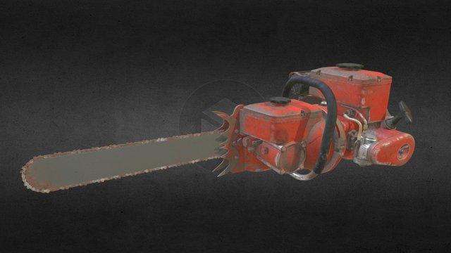 Vintage Chainsaw 3D Model